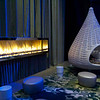 Relax by the fire in the teardrop chair