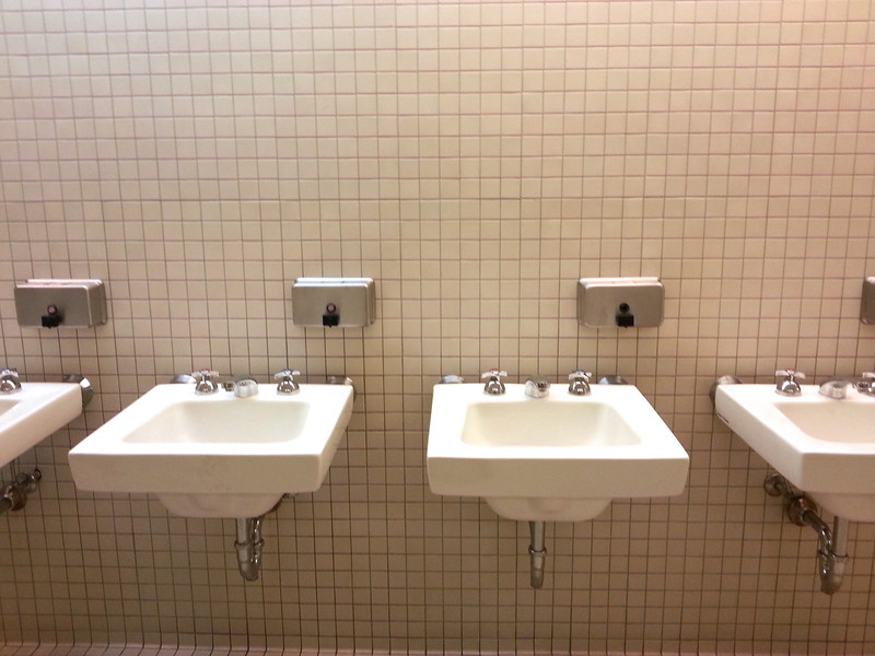 What's missing from the Walker Art Museum bathrooms?