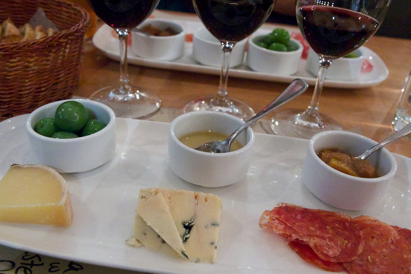 My cheese, meat, and condiment pairings at Salt Tasting Room