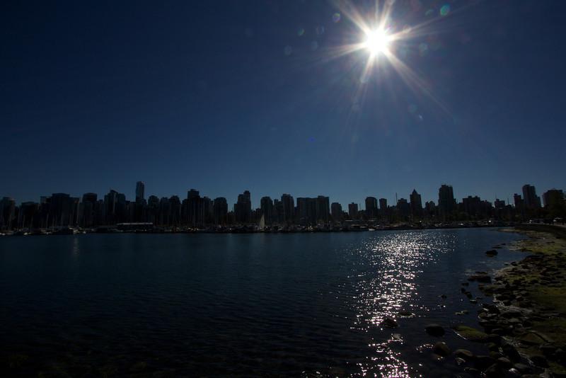 Vancouver in silouhette