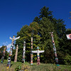 Totem poles that tell stories in Stanley Park