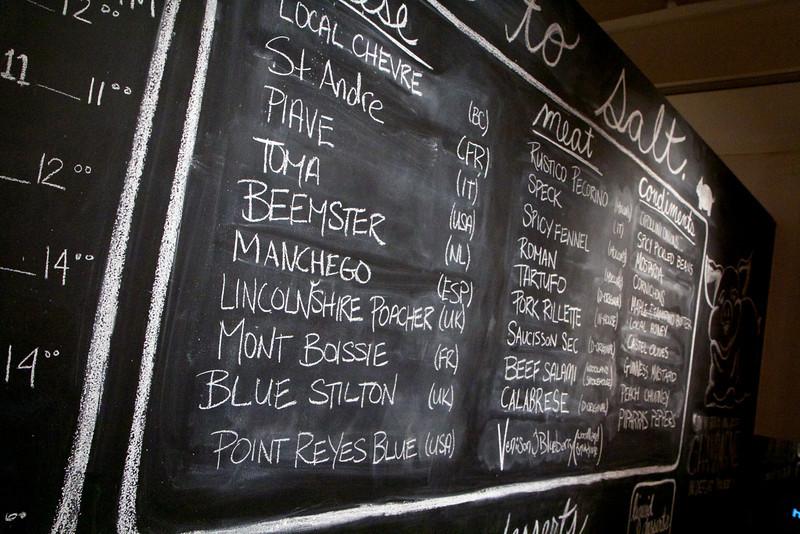 Salt Tasting room menu
