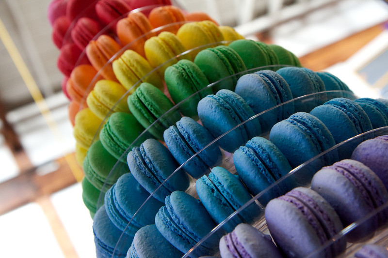 Edible rainbow at Granville Market