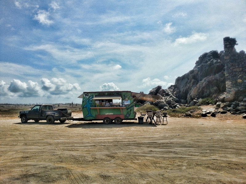 Food truck on the wild side of the island