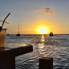 Sunset at a pier bar - a perfect spot to watch the end of the day.