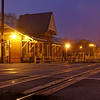 Railroad Station in Fog