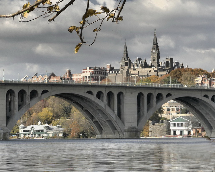 View of Georgetown from Roosevelt Island