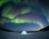 Igloo under Aurora Borealis, Yellownife