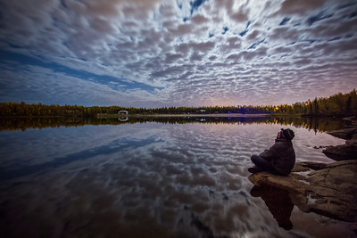 Waiting... Self-portrait, Long Lake, Yellowknife, Fall 2014.