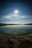 Moon Halo, Yellowknife River. Fall 2014.