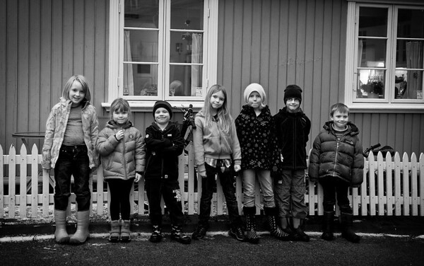 Local gang, hanging out in the streets.  Oslo, Norway, 2012.