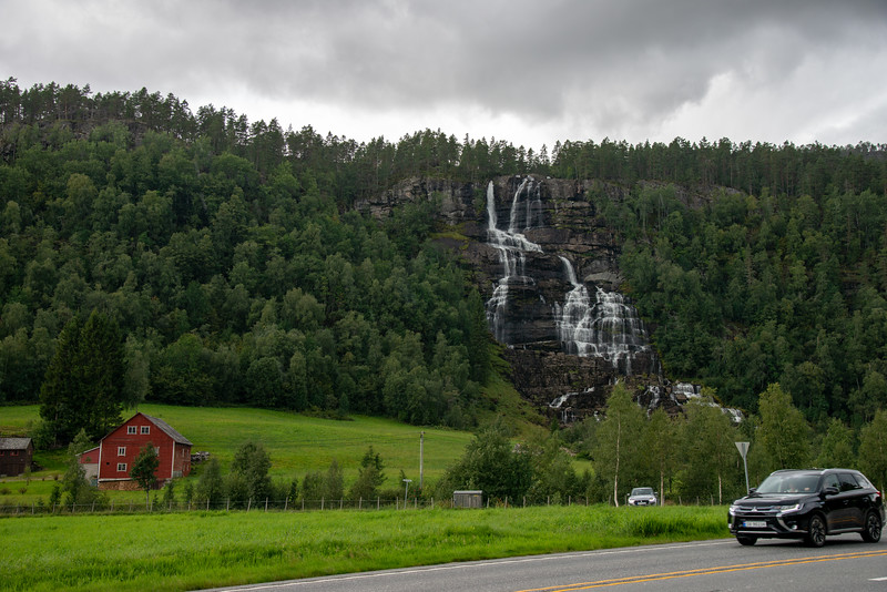 Voss Waterfall. Voss is a municipality and a traditional district in Hordaland county, Norway. The administrative center of the municipality is the village of Vossevangen.