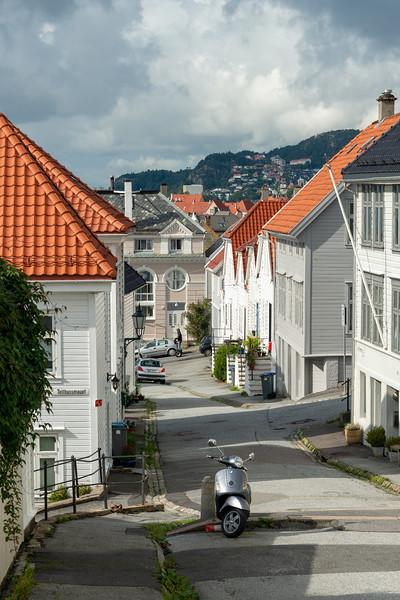 Houses near Skansens Bataljon & Skanseguttenes Forening, Bergen, Norway.