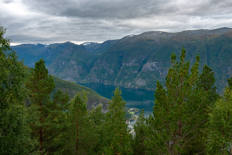 Stegastein viewpoint. This 30m viewing platform sits 650m above the Aurlandsfjord. Flåm is a village in Flåmsdalen, at the inner end of the Aurlandsfjorden, Aurland, in Sogn og Fjordane county, Norway.