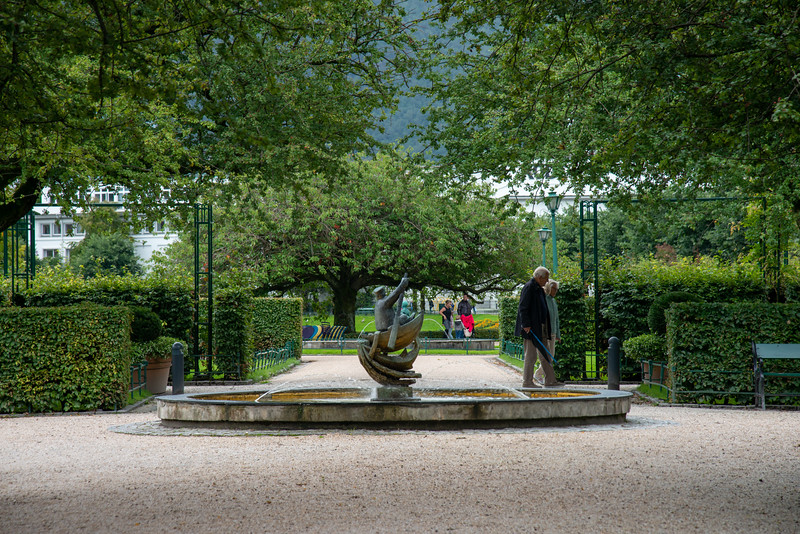 Fiskeren. Statue in a park in Bergen city centre, Norway. Bergen, historically called Bjørgvin, is a city as well as municipality in Hordaland on the west coast of Norway.