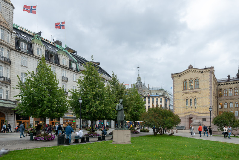 Park and streets of Oslo, Norway.