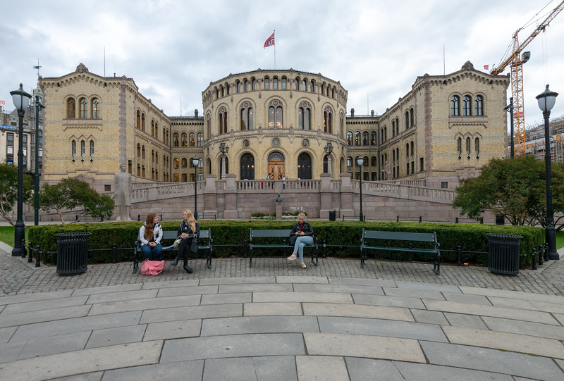 Norwegian Parliament, Government building, <br /> Stortinget, Oslo, Norway.