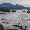 Cannon Beach, Oregon, from Ecola State Park, Oregon.