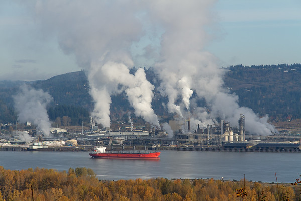 Factories along the Columbia River.