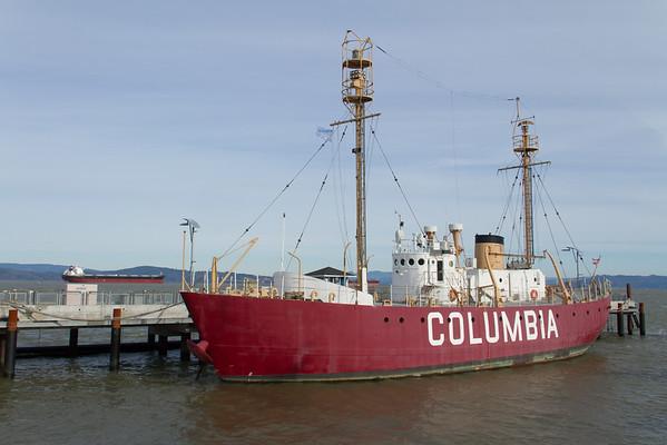 "Lightship ""Columbia"" in Astoria, Oregon."