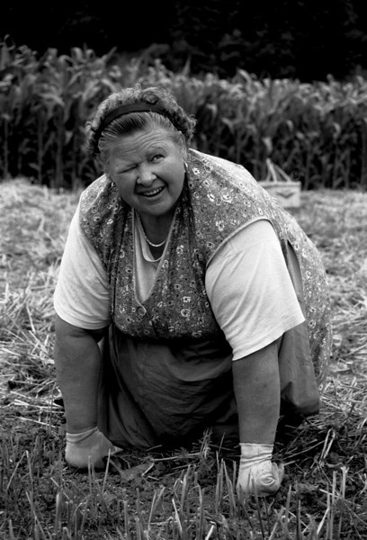 Woman working in the fields.<br /> Slovenia, 2001.