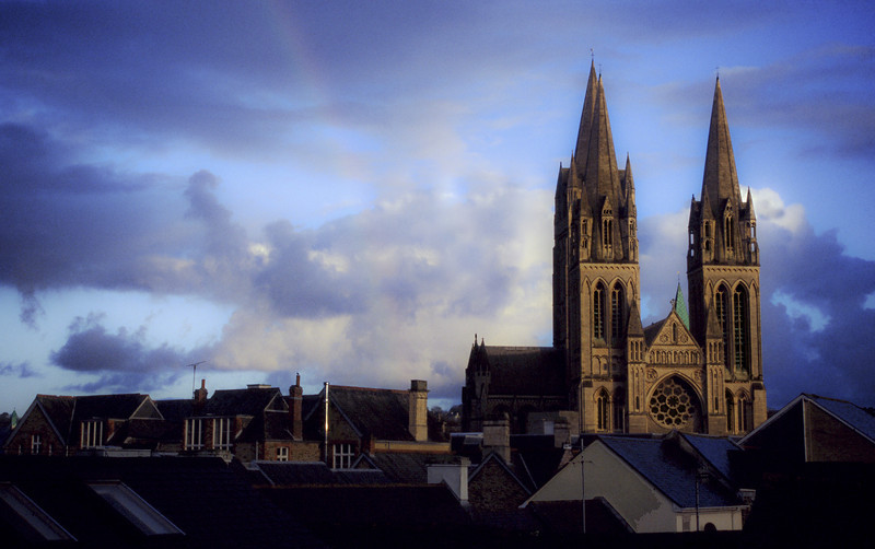 Truro cathedral.<br /> Cornwall, England, 1999.