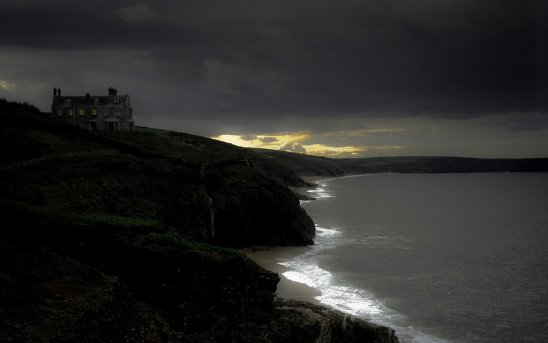 Cornish coastline.<br /> Newquay, Cornwall. England, 1999.