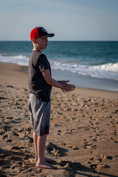Summer beach trip to the Outer Banks. His first trip to the beach! June 2018. Digital.<br /> <br /> This might be the first photo that I've taken where he looks like a MAN and not a boy.