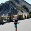 Lookout at Crater Lake.