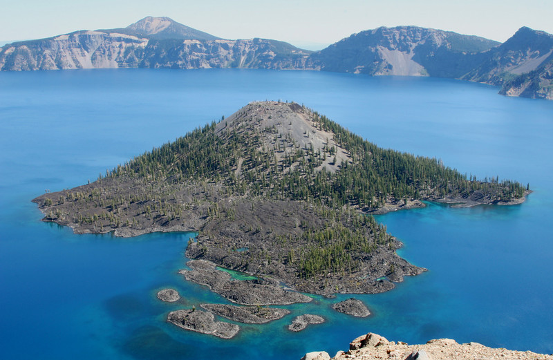 Wizard Island in Crater Lake NP, OR.