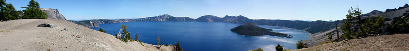 Panoramic shot of Crater Lake NP, OR.<br /> <br /> VIEW IT LARGE!!!
