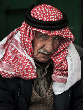Portrait of a palestinian man.  Hebron, Palestine, 2012.