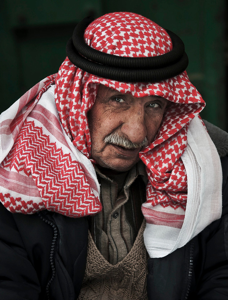 Portrait of a palestinian man.<br /> <br /> Hebron, Palestine, 2012.