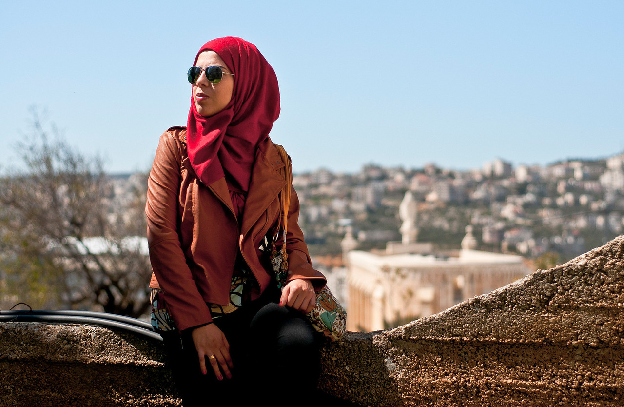 Doha 21 studies English at the university in Bethlehem. Originally from Hebron Doha is a modern thinking woman and feels that it is difficult in such a circular environment. She aspires to become an English teacher after her studies but understands that the job situation in Palestine is bleak. <br /> <br /> Bethlehem, Palestine, 2012.