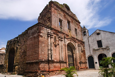 Ruins of an old church in Casco Viejo, Panama.