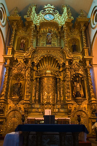 Iglesia de San José also known as the Church of the Golden Altar.  the Church of San Jose, with its famous golden altar that was saved from the greed of the pirates and the ruins of the convent of Santo Domingo.