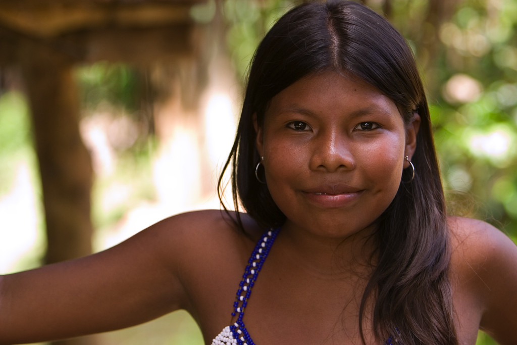 Embera girl, Chagres National Park, Panama.