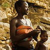 Woman and children in Dogon Country, Mali, West Africa