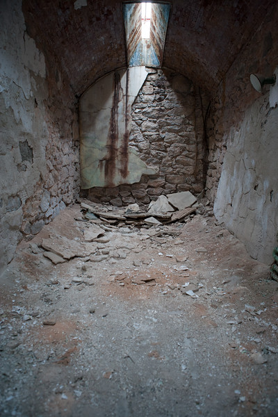 Dilapidated cell at Eastern State Penitentiary. Philadelphia, PA. Apr 2016. Digital.