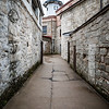 Walking the grounds at Eastern State Penitentiary. Philadelphia, PA. Apr 2016. Digital.