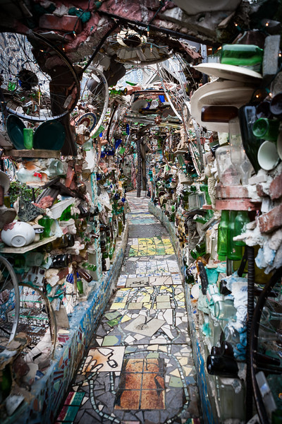 Exploring the Museum of the Magic Gardens. Philadelphia, PA. Apr 2016. Digital.
