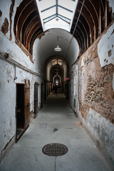 Corridor at Eastern State Penitentiary. Philadelphia, PA. Apr 2016. Digital.
