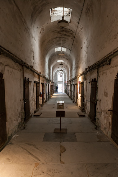 Corridor at Eastern State Penitentiary. Philadelphia, PA. Apr 2016. Digital.