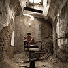 Barber chair at Eastern State Penitentiary. Philadelphia, PA. Apr 2016. Digital.