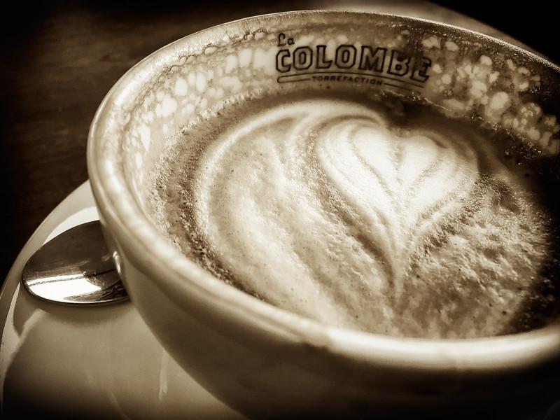 Latte at La Colombe