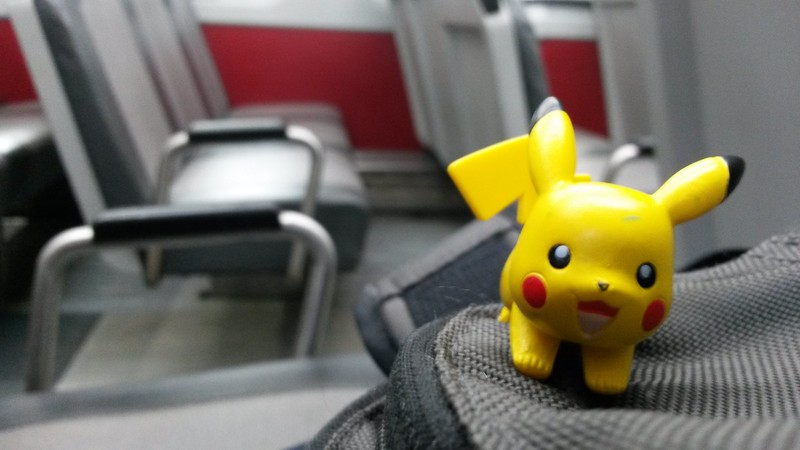 Pikachu on the train