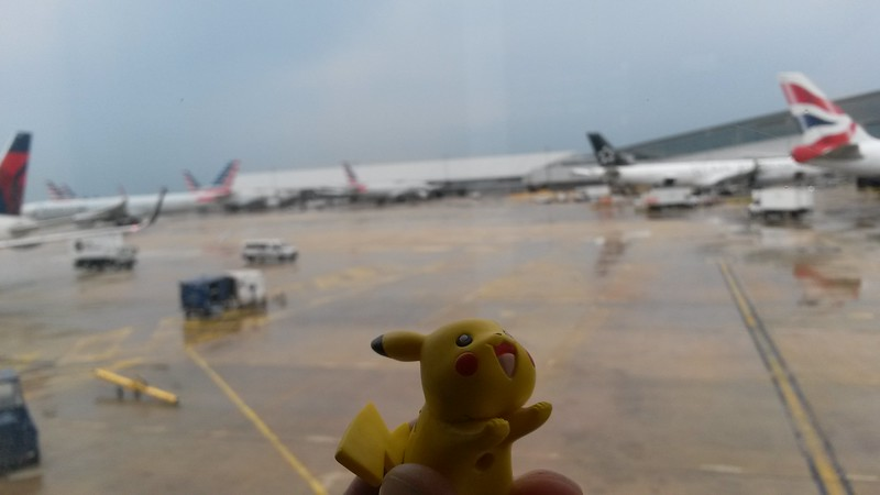Waiting to board the plane