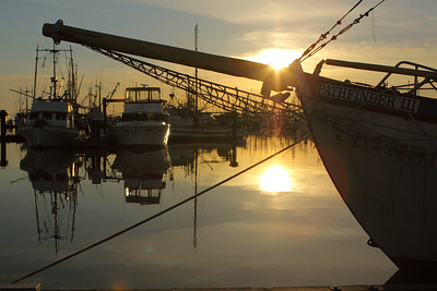Sunset at Steveston Village