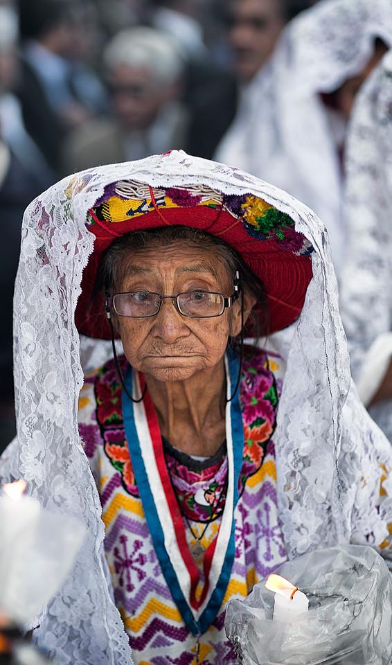 Old mayan lady in the town of xela, Guatemala.