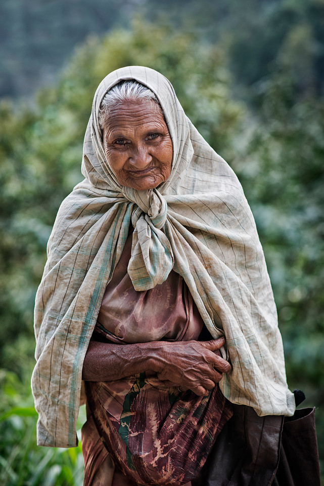 Old Sri Lankan woman.